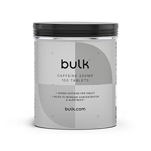 Bulk Koffeintabletten, Pre Workout Booster, 200 mg, 250 Tabletten, Verpackung Kann Variieren