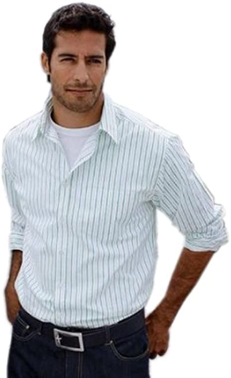Tu hombre camisa para hombre verde/blanco/azul de rayas talla 43/44 - 51/52/380423/B 11.