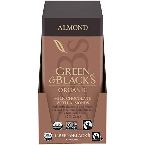 Green & Blacks Organic Almond Milk Chocolate Bar, 34% Cacao, 10 - 3.17 oz Bars