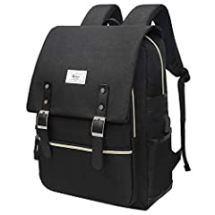 "Waterproof Durable School Bag with Folder Cover. Made of high quality waterproof material; padded and adjustable shoulder straps; external USB with built-in charging cable offers a convenient charging The pocket for the 13/14/15/16"" laptop is padded,..."