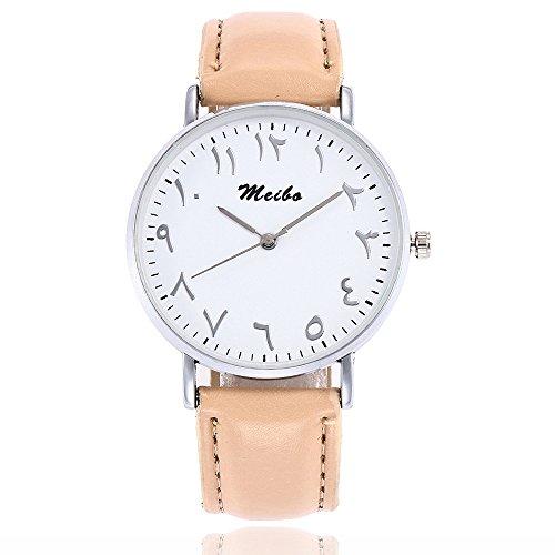 Förderung! LEEDY Damen Fashion Armbanduhr, Frauen Einfach Analog Quarz Uhr mit Lederband, Elegant Uhr Causal Damenuhr Watch Geschenk