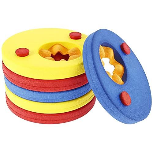 YOISMO Flotador de natación - Discos flotantes para niños para Aprender a Nadar Bandas para los Brazos, Discos flotantes para Brazos para niños Juego de Piscina para niños (6 Piezas/Juego)