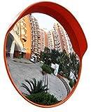 DERUKK-TY Espejo de tráfico al aire libre lente gran angular, espejo convexo de tráfico espejo de seguridad vial al aire libre gran angular giro tráfico convexo espejo supermercado, 60 cm