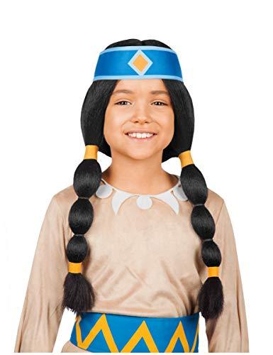 Generique - Yakari Indianer-Stirnband für Kinder Lizenzartikel für Kinder blau-gelb