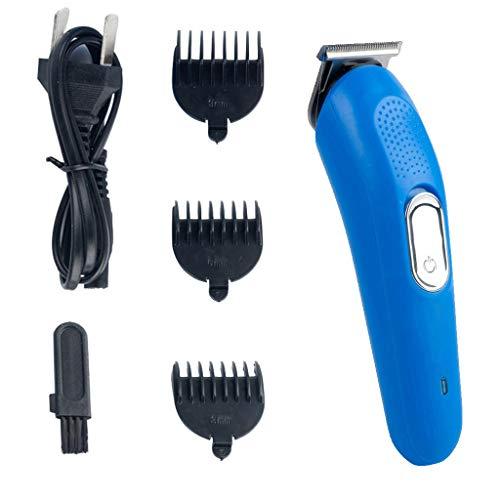 Professionele Tondeuse, Electric Pro Haar Grooming Oplaadbare Snoerloze Haar Knippen Trimmer Heren Tondeuse Baardtrimmer Precisietrimmer Mannen Waterdichte Accu-Tondeuse (Blauw)