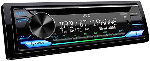 JVC KD-DB912BT CD-autoradio met DAB+ & Bluetooth handsfree systeem (Alexa built-in, soundprocessor, USB, AUX-in, Spotify Control, 4 x 50 watt, var. verlichting, DAB+-antenne).