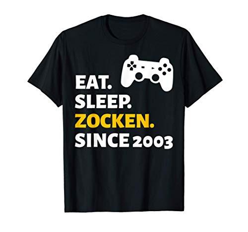18. Geburtstag Junge Mädchen 18 Jahre Gamer 2003 Geschenk T-Shirt