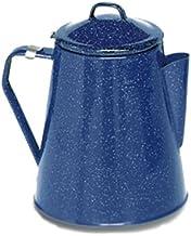 Texsport Camping Enamel Percolator Coffee Maker, Blue