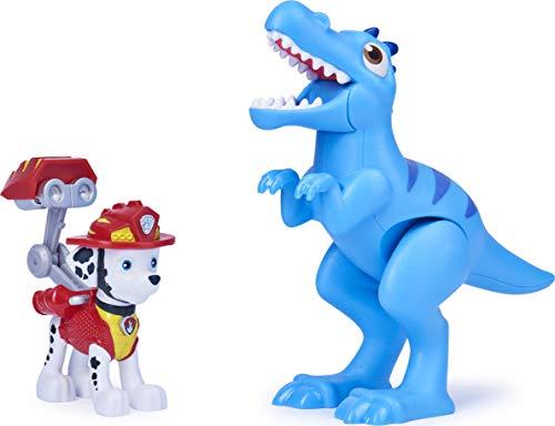 Paw Patrol Marshall der Dinoretter und Dinosaurier-Actionfiguren-Set für Kinder ab 3 Jahren