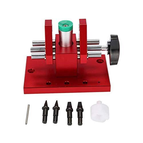 SALUTUYA Apriscatole Professionale a Scatto per fondello Apri in Modo Sicuro Apribottiglie per banco da Lavoro con Lame Precise per orologiaio