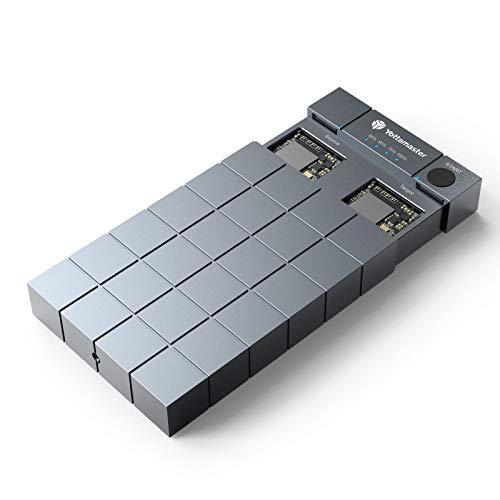 Yottamaster 10Gbps Dual Bay M.2 NVMe SSD Offline-Klon Gehäuse, Aluminum M.2 NVMe Gehäuse mit 2 Steckplätze, USB3.1 Typ-C Dual Bay NVMe Docking Station für NVMe PCIe SSDs
