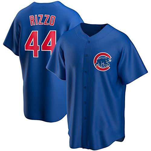 JMING Camiseta De Béisbol para Hombre, Cubs #9 Baez #44 Anthony Rizzo Uniforme De Equipo De Camisa De Manga Corta De Juego De Béisbol De élite para Hombre con Jersey De Botones (A7,M)