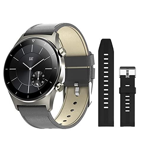 ZRY Reloj Inteligente para Hombres Y Mujeres E13, 1,28 Pulgadas Pantalla De Color IPS IP68 Mensaje De Teléfono A Prueba De Agua GPS Bluetooth 5.0 para Android iOS Mobile Phone,C