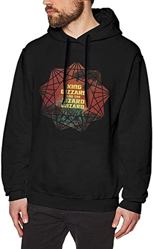 Men's King Gizzard&The Lizard Wizard Long Sleeve Hooded Sweat Shirt Pullover,As Pic,XX-L