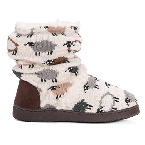 MUK LUKS Women's Holly Slippers - Vanilla Sheep