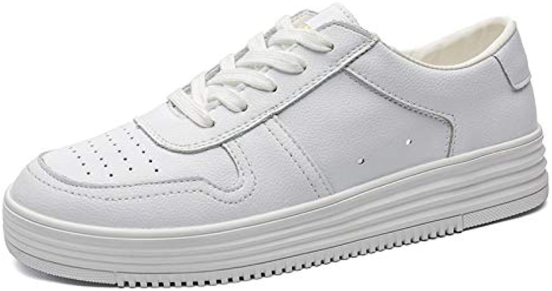 LOVDRAM Men's shoes White shoes White shoes Men'S Platform Fashion shoes Wild Autumn Sports Men'S shoes shoes