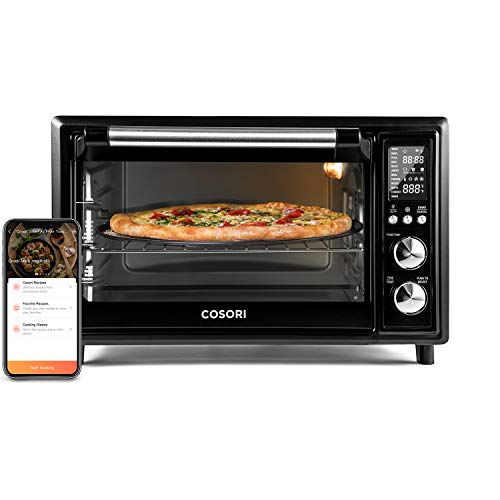 COSORI Smart 12-in-1 Air Fryer Toaster Oven Combo, Countertop Rotisserie & Dehydrator for Chicken, Pizza and Cookies, 100 Recipes&6 Accessories Included, Work with Alexa&VeSync APP, 30L, Black
