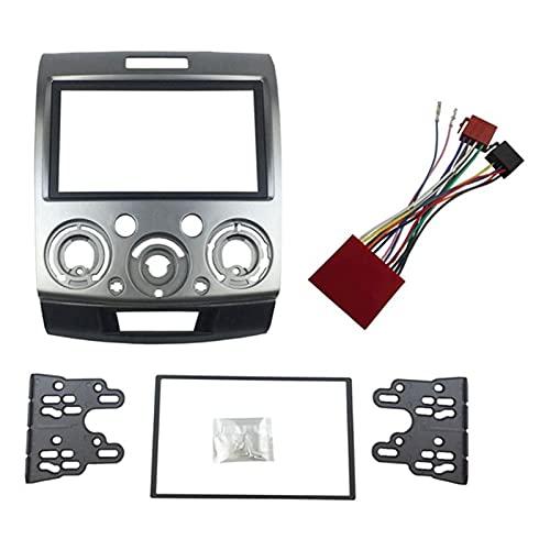 zhuzhu Radio Stereo Panel Ajuste para Ford Everest Ranger Mazda BT-50 BT50 Double 2 DIN Fascia Dash Installation Kit de Ajuste Placa de Cara Bisel (Color Name : Type 1)