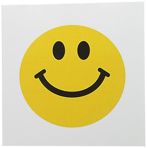 """3dRose Yellow Smiley Face - Traditional Happy Smile Greeting Cards, 6"""" x 6"""", Set of 12 (gc_76653_2)"""