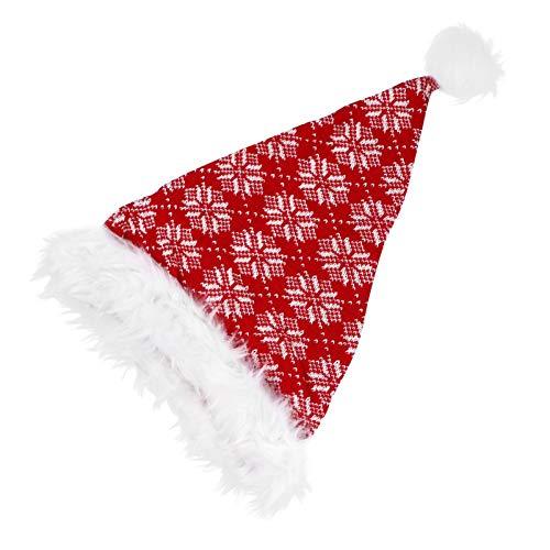 FAVOMOTO 1 Pieza de Sombrero de Punto con Patrn de Copos de Nieve Sombrero de Navidad para Todo El Mundo Fiesta de Navidad de Invierno| 16. 90X11! 79X1! 18 Pulgadas