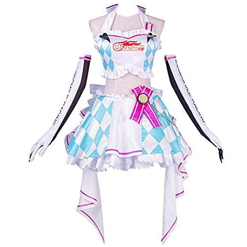 YLJXXY Anime Hatsune Miku Cosplay Disfraz Halloween Carnaval Fiesta Mujeres Carreras Arcilla Motocicleta Ropa Conjunto Completo,S