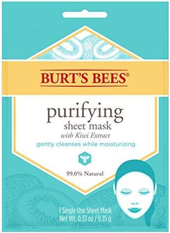 Burt s Bees Purifying Sheet Mask With Kiwi Extract Mask 0 33 Ounce product image
