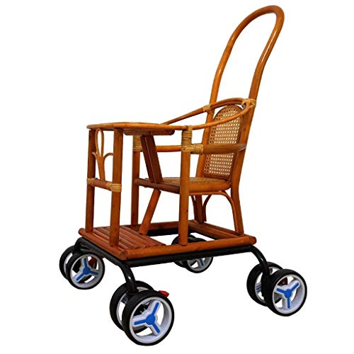 Great Deal! RRH-Cribs Baby Cart Light Bamboo Baby Stroller Bamboo and Rattan Chair Crib Travel Cots ...