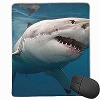 白いサメ マウスパッド ゲーミングマウスパッド ラップトップマット pcマウスパッド リストレスト ラバーマット 滑り止め 耐久性 高級感 25*30
