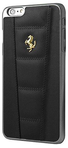 Ferrari Gold Logo FE458GHCP6LBL Custodia Cover per iPhone 6 Plus, Nero