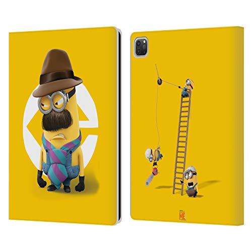 Head Case Designs Oficial Despicable Me Disfraz de Kevin Dad Esbirros Carcasa de Cuero Tipo Libro Compatible con Apple iPad Pro 12.9 (2020)