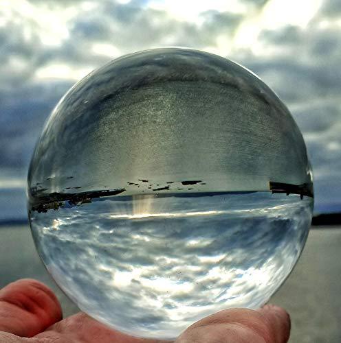 Bola de Cristal 80 mm K9 - Cristal Transparente para Meditar y Curación/de adivinación o fotografía