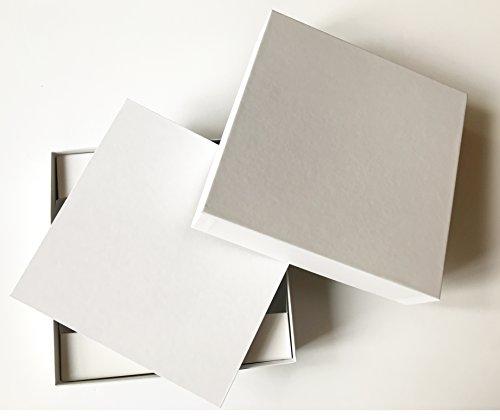 DIY Spiel / Blanko Brettspiel Zum Selbstgestalten (Spielplan + Schachtel weiß, Größen Medium + Large) (Large)