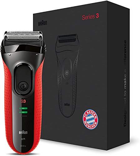Braun Series 3 ProSkin Elektrorasierer 3030s FC Bayern München Edition, rot