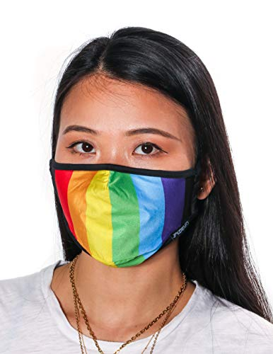 Fydelity-Breathable Face Mask Comfortable Fabric Cover Reuse:Gay Rainbow Pride