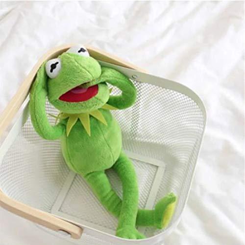ZHQIC 40cm El Muppet Show Doll Kermit Frog Puppet Juguete de Peluche es para los niños niños