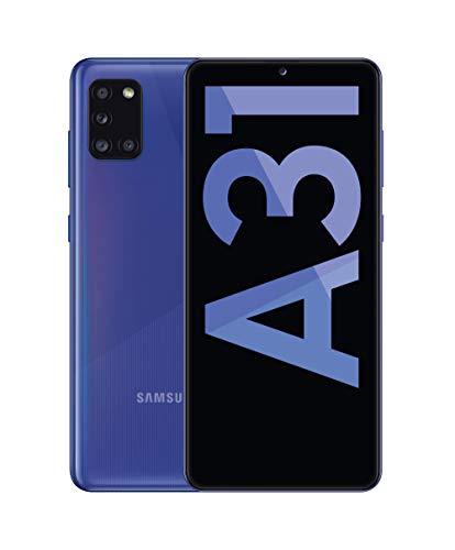 """Samsung Galaxy A31 - Smartphone 6.4"""" Super AMOLED (teléfono 4GB RAM, 64GB ROM), Color Azul [Versión española]"""