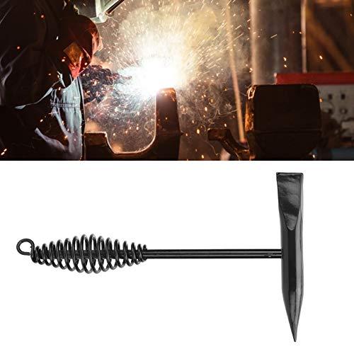 Martillo de soldador, herramienta de eliminación de salpicaduras de escoria de soldadura, martillo de astillado, herramienta de limpieza de soldadura de 250 mm, 2 piezas, mango de resorte