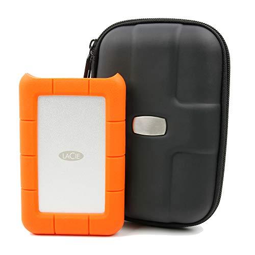 Duragadget - Custodia sleeve professionale per hard disk portatili, compatibile con LaCie Rugged Safe, Porsche Design P9220
