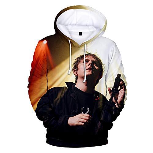 QIUFEN Sänger Lewis Capaldi 3D Langarm Rundhals Pullover Hoodie für Männer und Frauen Sweatshirt CCM, 130