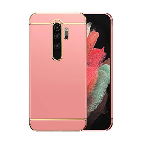Funda compatible con Xiaomi Redmi Note 8 Pro Funda Funda Xiaomi Redmi Note 8 Pro antigolpes capa dura mate protección 3 en 1 antiarañazos funda (oro rosa, Xiaomi Redmi Note 8 Pro)