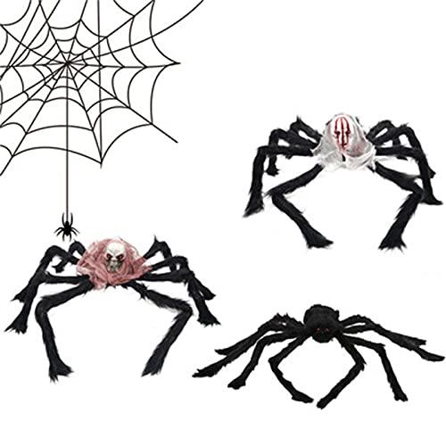 YYRAIN Halloween Calavera Araña Pared Decoración Imprescindible Decoraciones para Fiestas Banquete Fiesta Decoración para Fiestas De Baile
