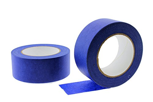 """2pk 2"""" x 60 yd Blue Painters Tape Professional Grade Masking Edge Trim Easy Removal (48MM 1.88 in)"""