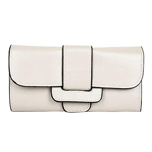 AIMICONG Wallet Faux Suede Long Wallet Women Matte Leather Lady Purse Female Wallets Card Holder Beige