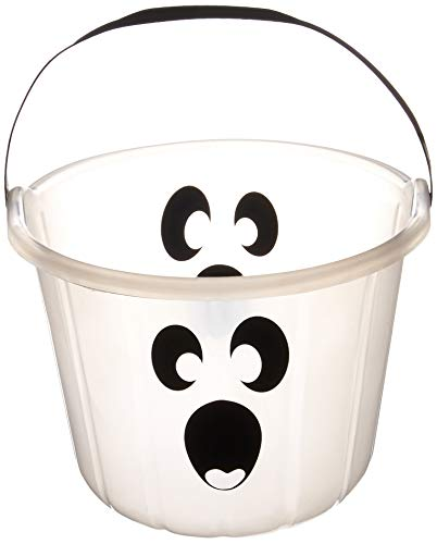 Glow-In-The-Dark Ghost Plastic Pail