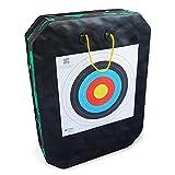 Yate Zielscheibe - Bogenschießen - aus Polimix - inklusive 2 Scheibenauflagen - Bogenscheibe - schonend - mit Griff - für Outdoor geeignet