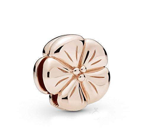 Auténtico Pandora 925 Colgante De Plata Esterlina Diy Cuentas Reflexión Flor Pulida Clip Charm Fit Pulsera Original Joyería De Mujer