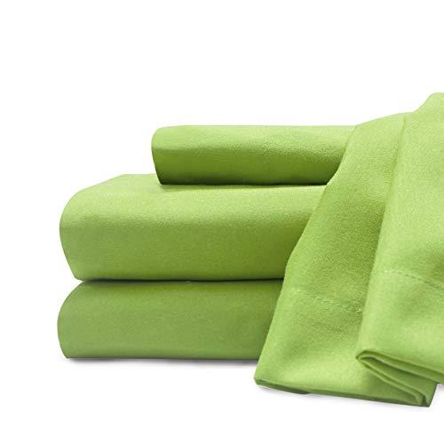 sábana verde de la marca Baltic Linen