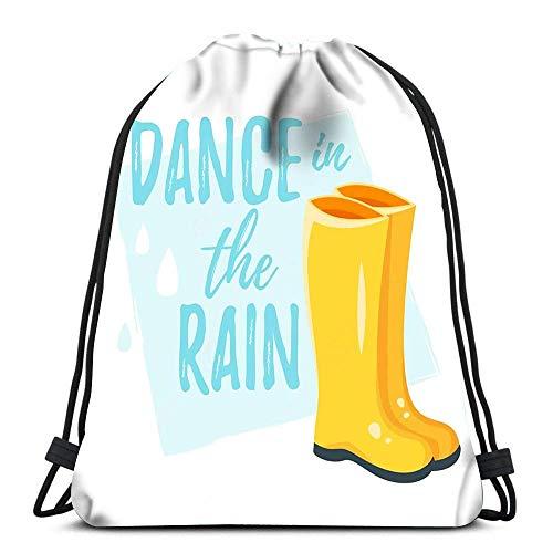 Kordelzug-Taschen im Rucksack-Stil, gelbe Gummistiefel, für Reisen, Turnbeutel, Rucksack, Schultertaschen, modisch