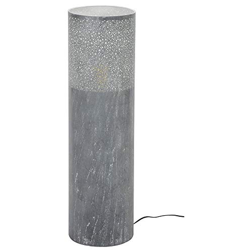 Stehleuchte & Standlampe famlights | in Grau 900mm DANTE E27 Metall Esszimmer Wohnzimmer | 1-flammig
