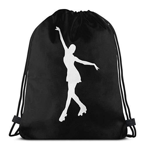 BXBX Kordelzug Rucksack Taschen Rollschuh Sport Gym String Storage Sackpack